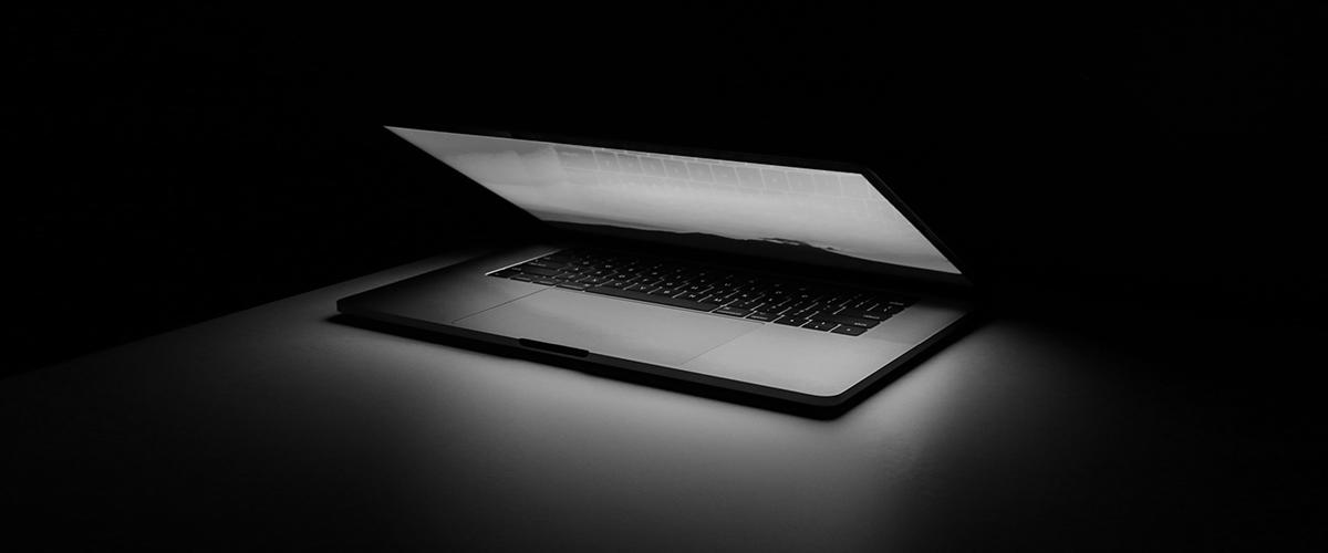 Half open laptop
