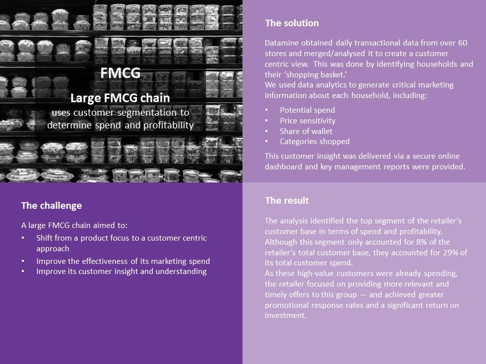 FMCG segmentation