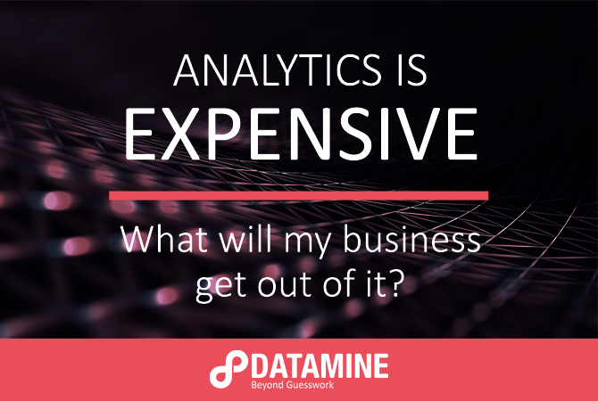 Analytics is expensive